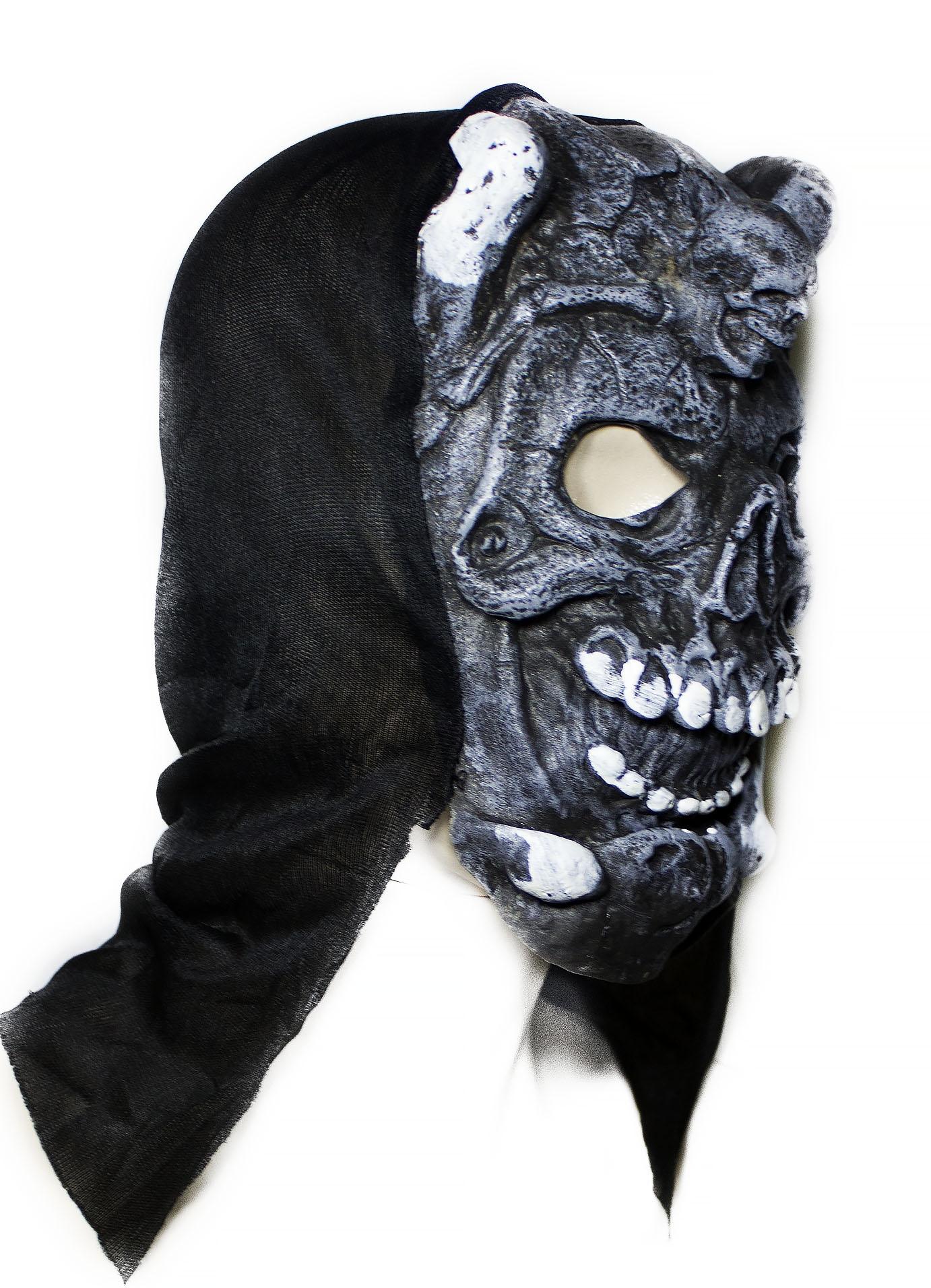 Латексная маска демона - Карнавальные маски