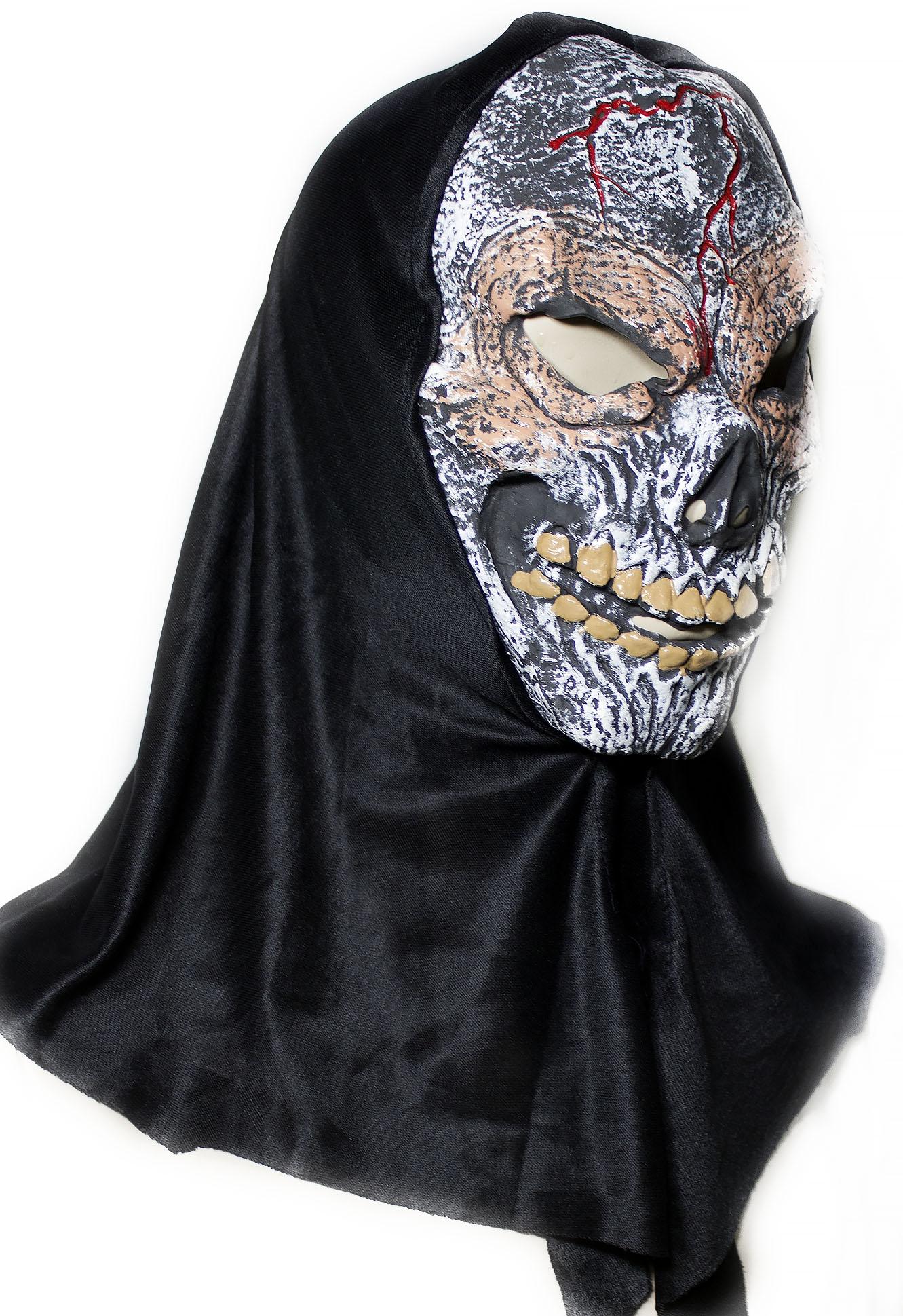 Латексная маска Жуткий череп - Карнавальные маски