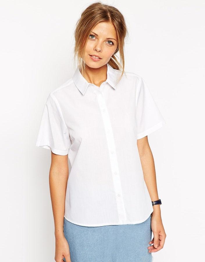 Рубашка стюардессы белая (44-46) рубашка с коротким рукавом белая mayoral ут 00009892