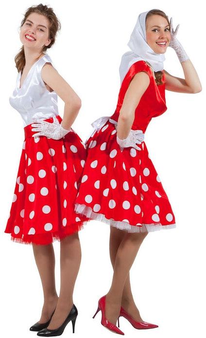 1162847088b9513 Красно-белое платье в стиле 50-х - купить на Vkostume.Ru, описание ...