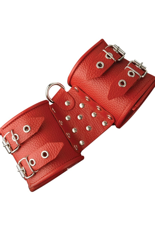 Наручники фиксирующие красные (UNI) наручники 2 красные