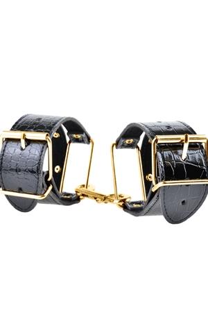 Наручники черные с золотом (UNI) наручники черные с золотом uni