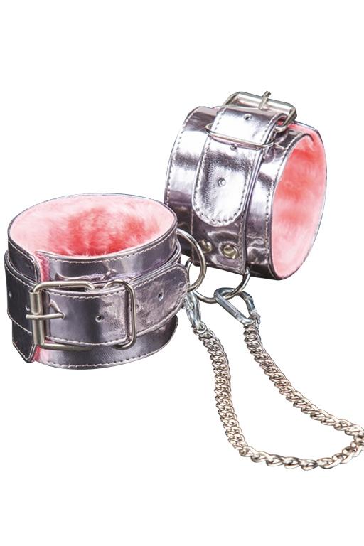 Оковы металлик с розовым (UNI) танцевальный шест private dancer pole kit серебро