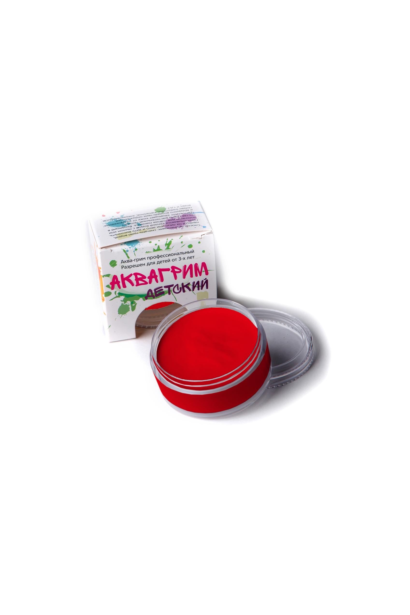 Аква-грим профессиональный красный (UNI) -  Грим и шрамы