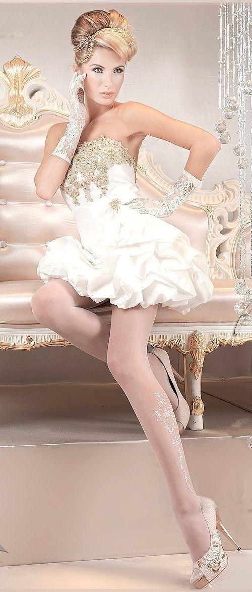 Тонкие чулки белые (3-4) -  Чулки и колготки