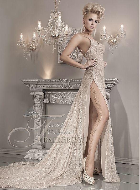 Прозрачные колготки с узорами телесные (1-2) колготки ballerina 050 1 2