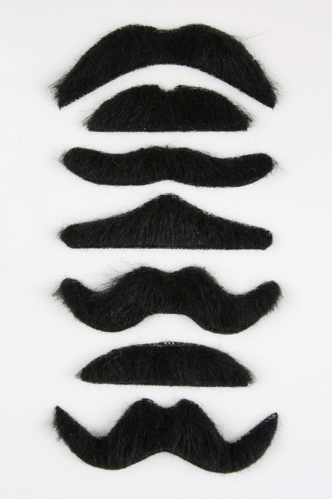 Набор из 7 усов (UNI) - Борода и усы