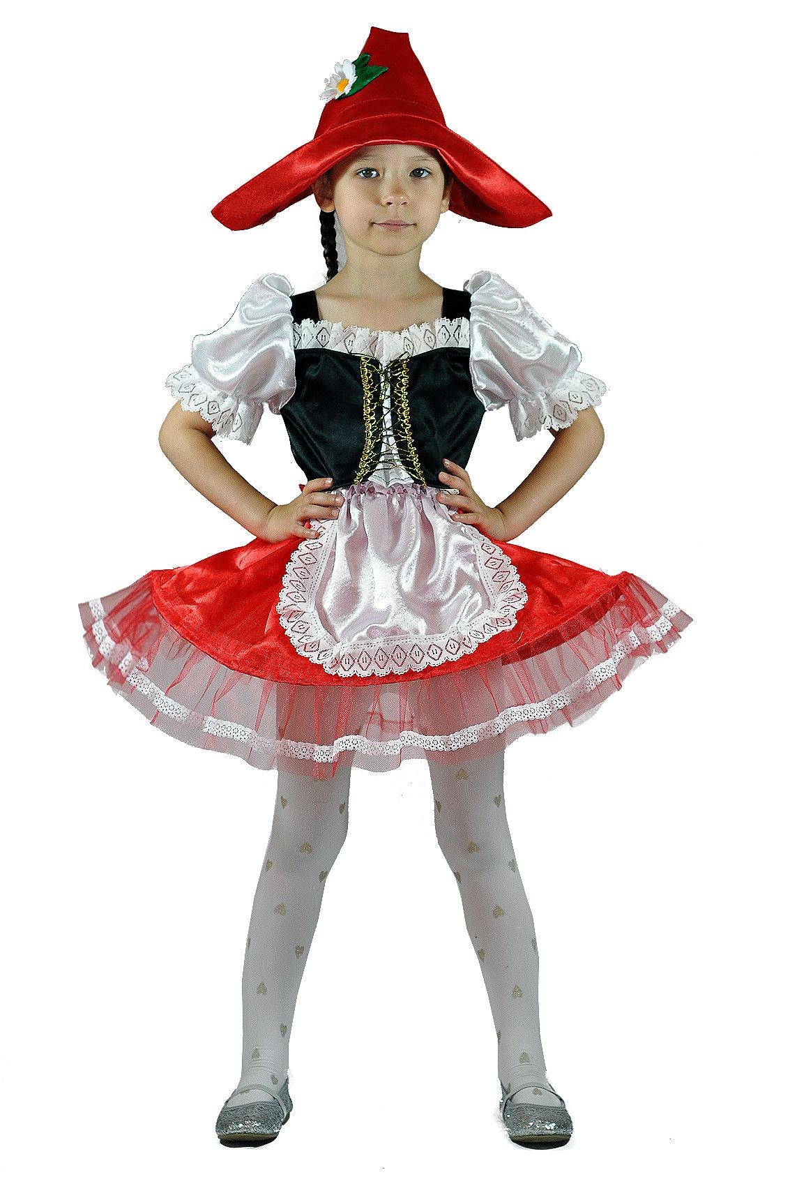 Детский костюм Красной Шапочки с ромашкой (28) костюм прекрасной шапочки 30