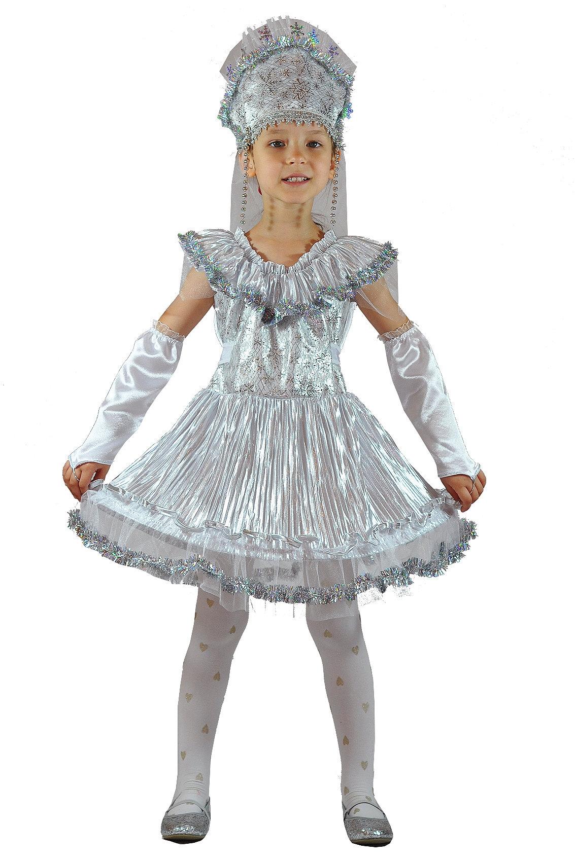 Детский костюм Девочки Снежинки (26) - Новогодние костюмы, р.26