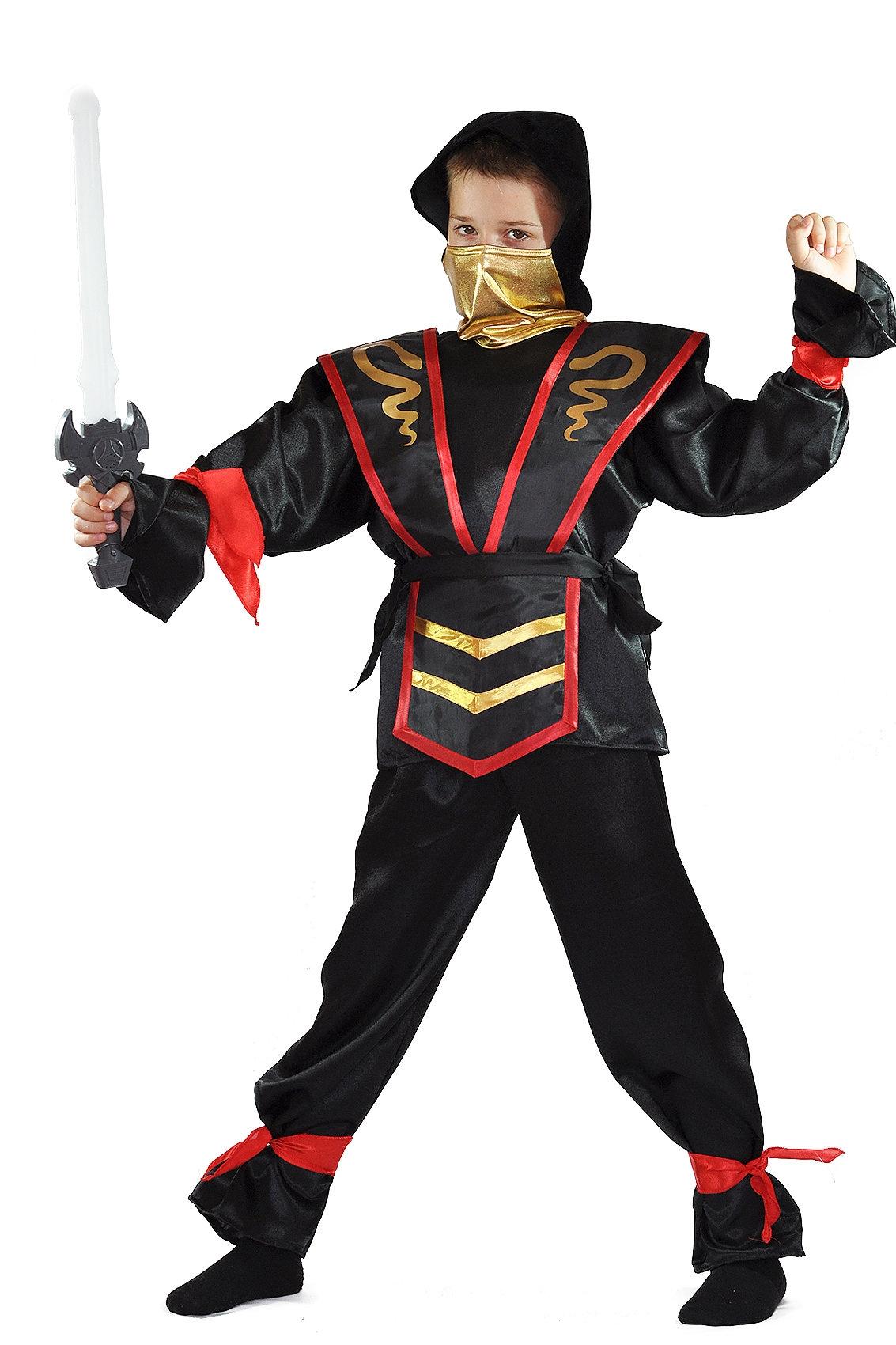 Костюм Ниндзя Черный (30) костюм тайного ниндзя 52 54