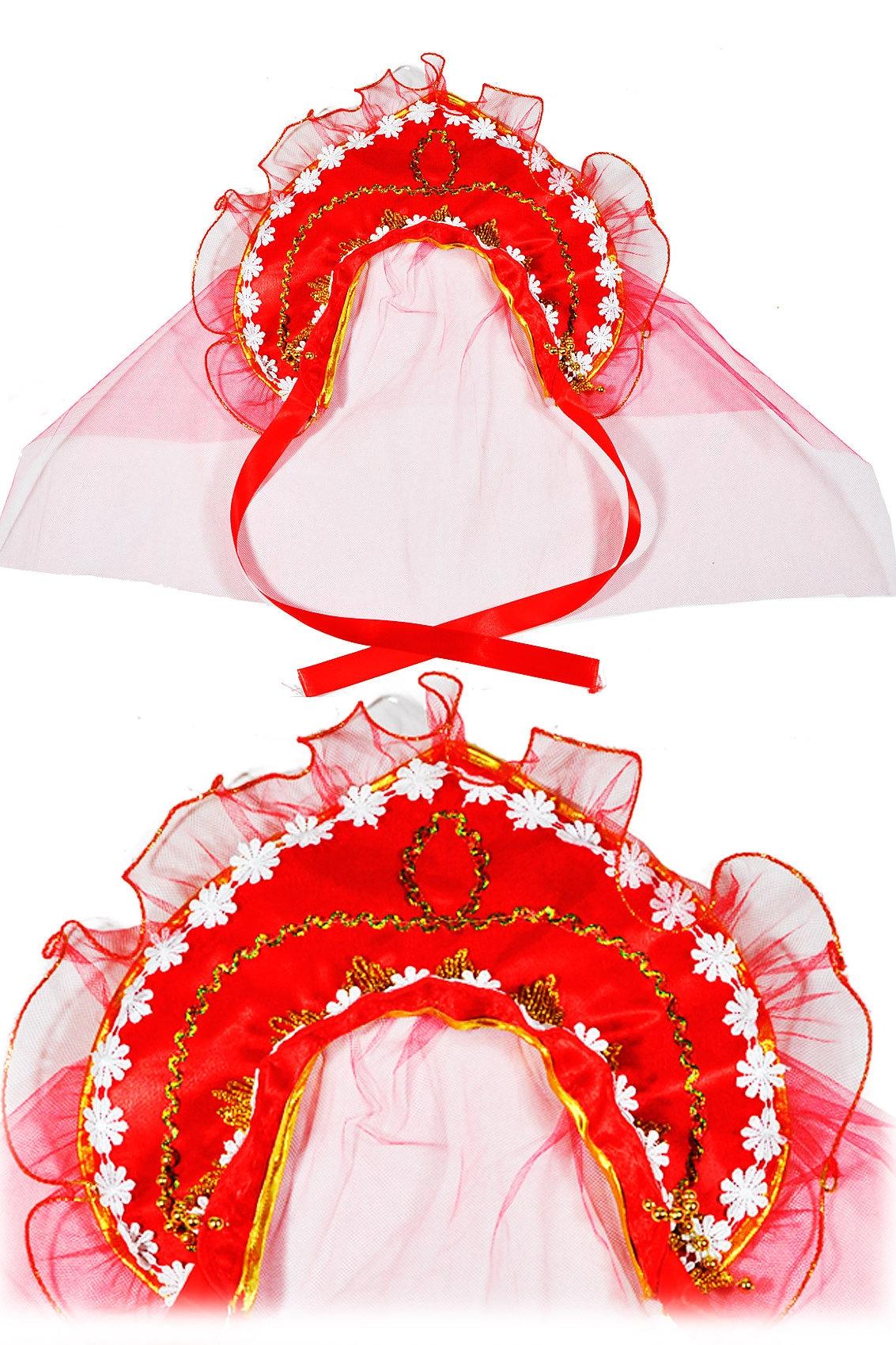 Красный кокошник (UNI) -  Национальные костюмы