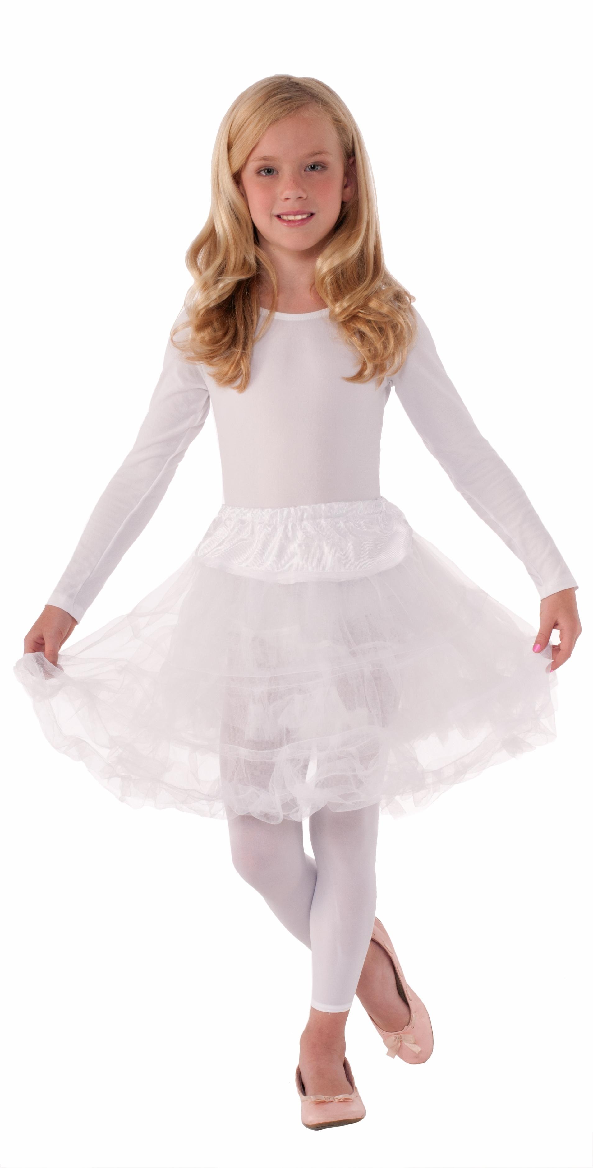 Детский белый подъюбник (UNI) -  Подъюбники и юбки