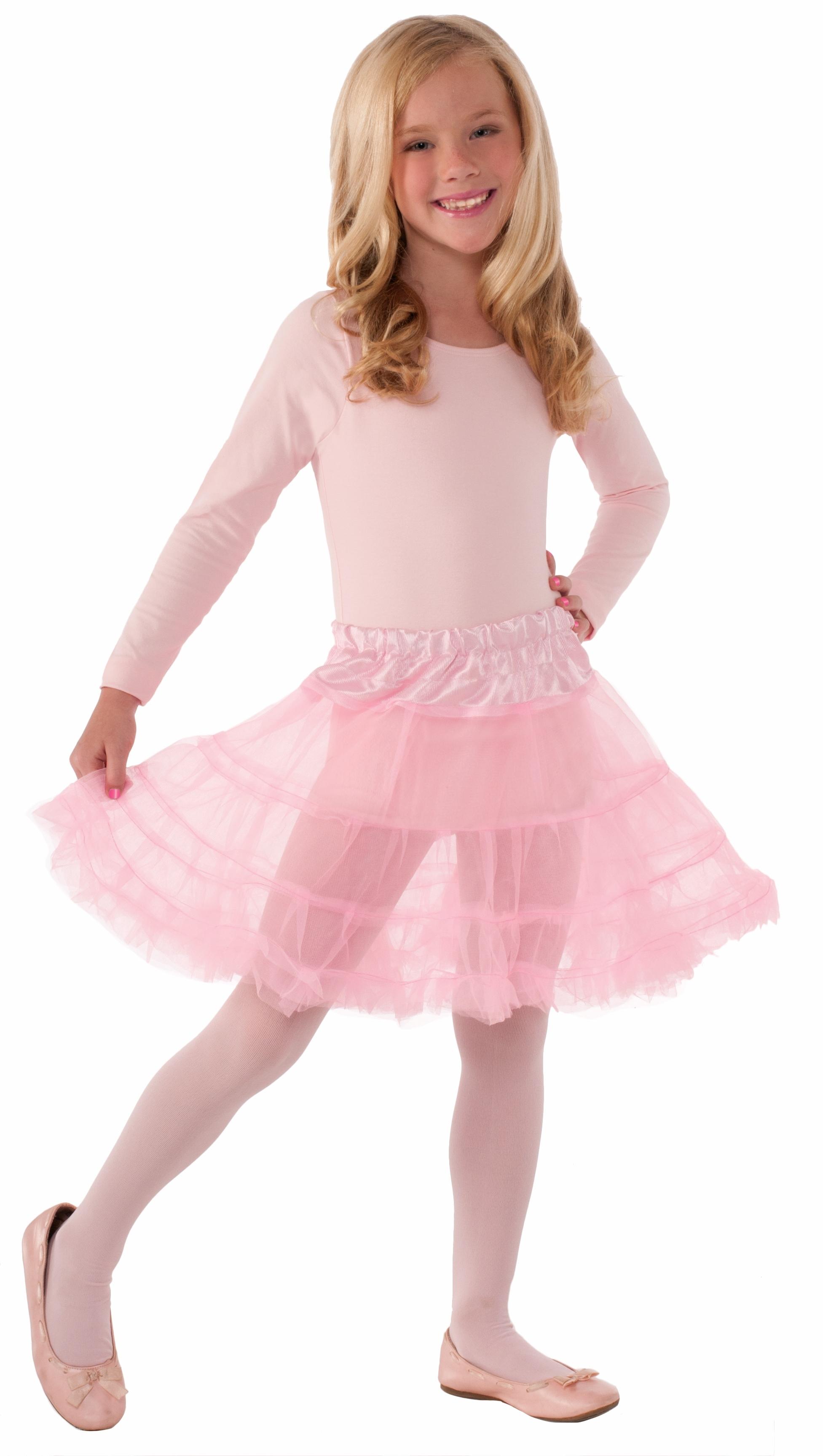 Детский розовый подъюбник (UNI) подъюбник accessories трехслойный черный 28см