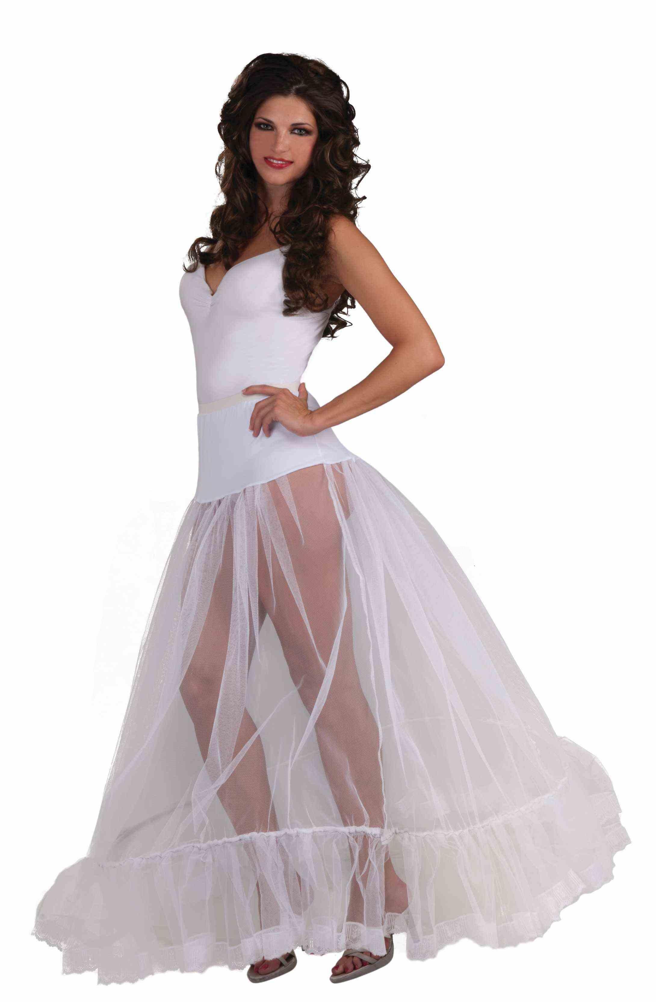 Длинный белый подъюбник (UNI) -  Подъюбники и юбки