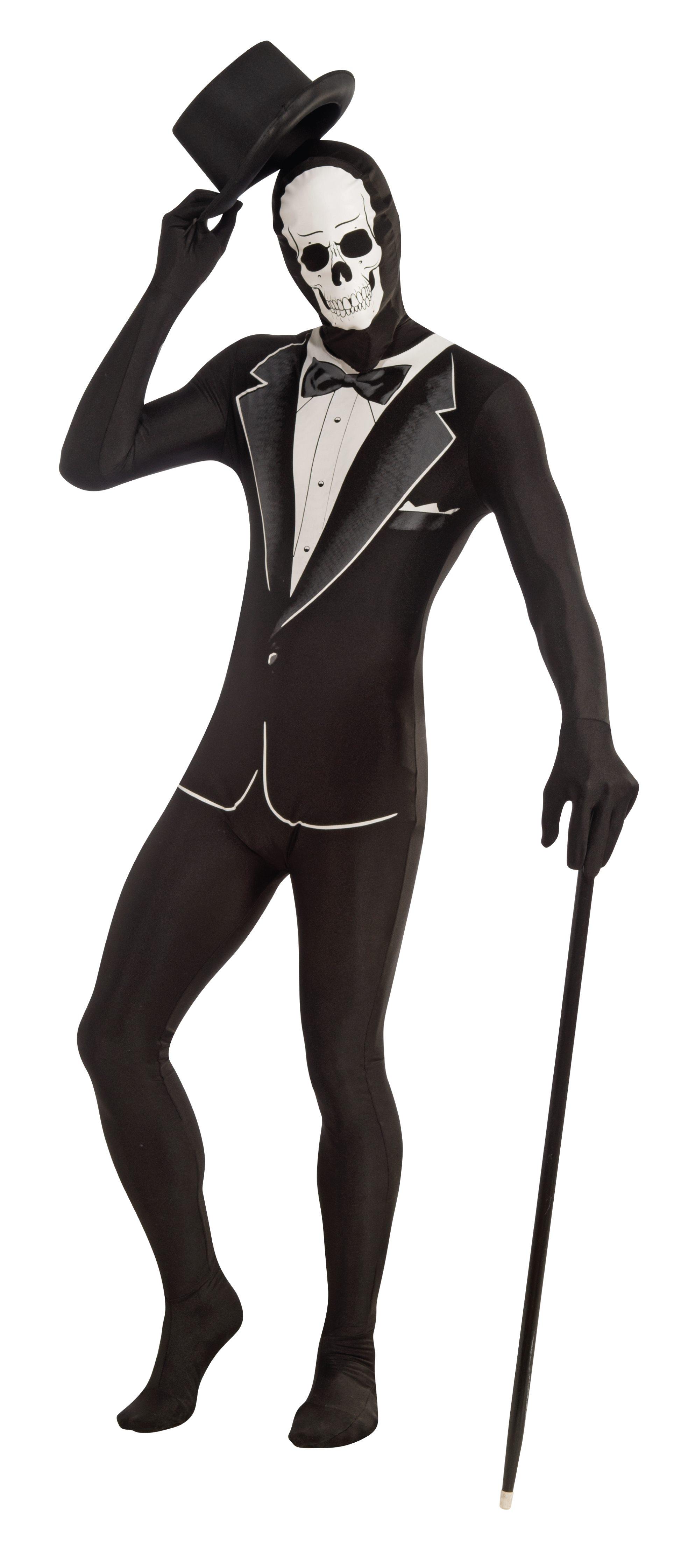 Костюм Зентай Скелет в смокинге (54) костюм радуги зентай 52 54
