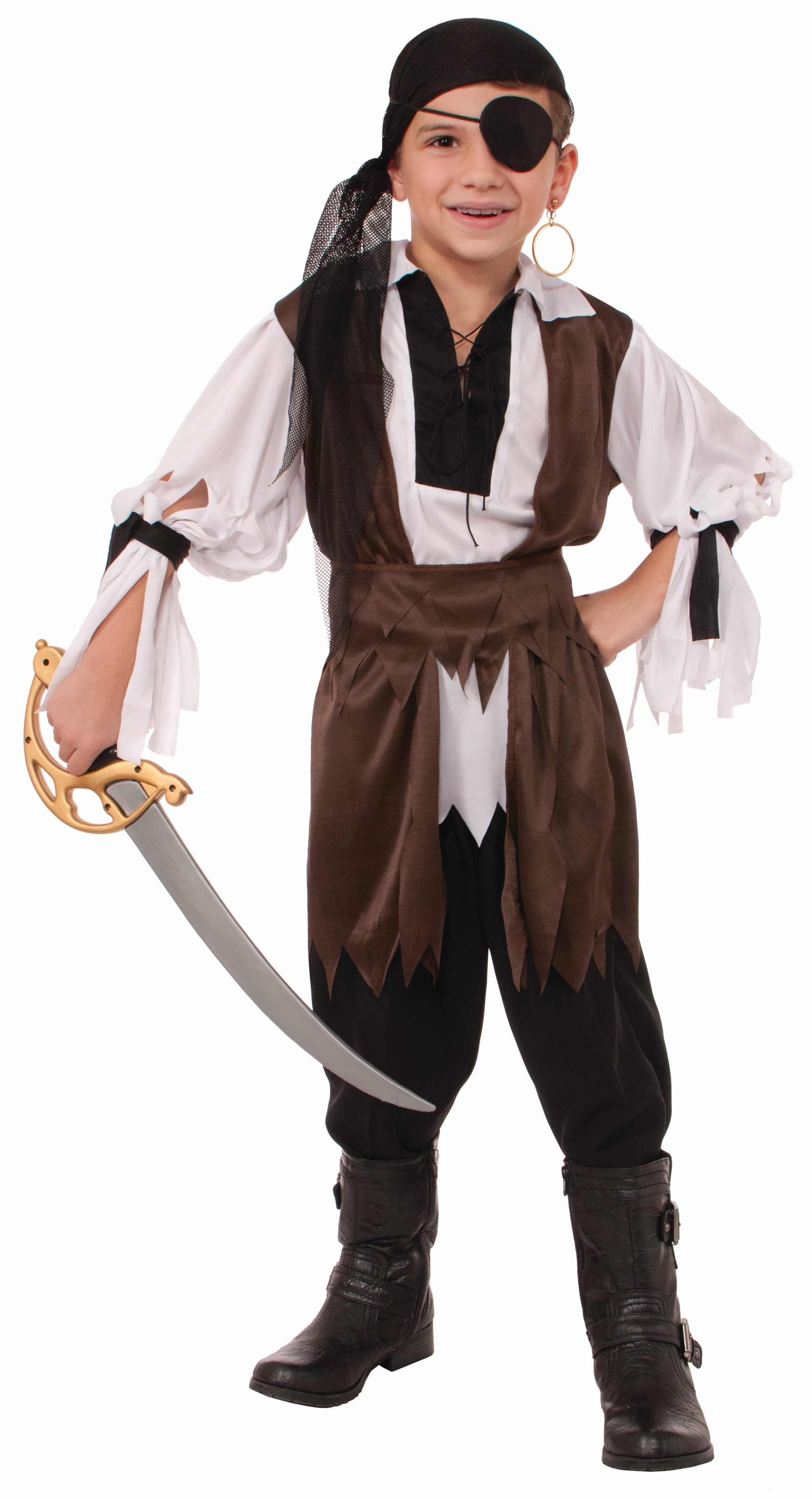 Детский костюм пирата с банданой (38-40) детский костюм озорного клоуна 34