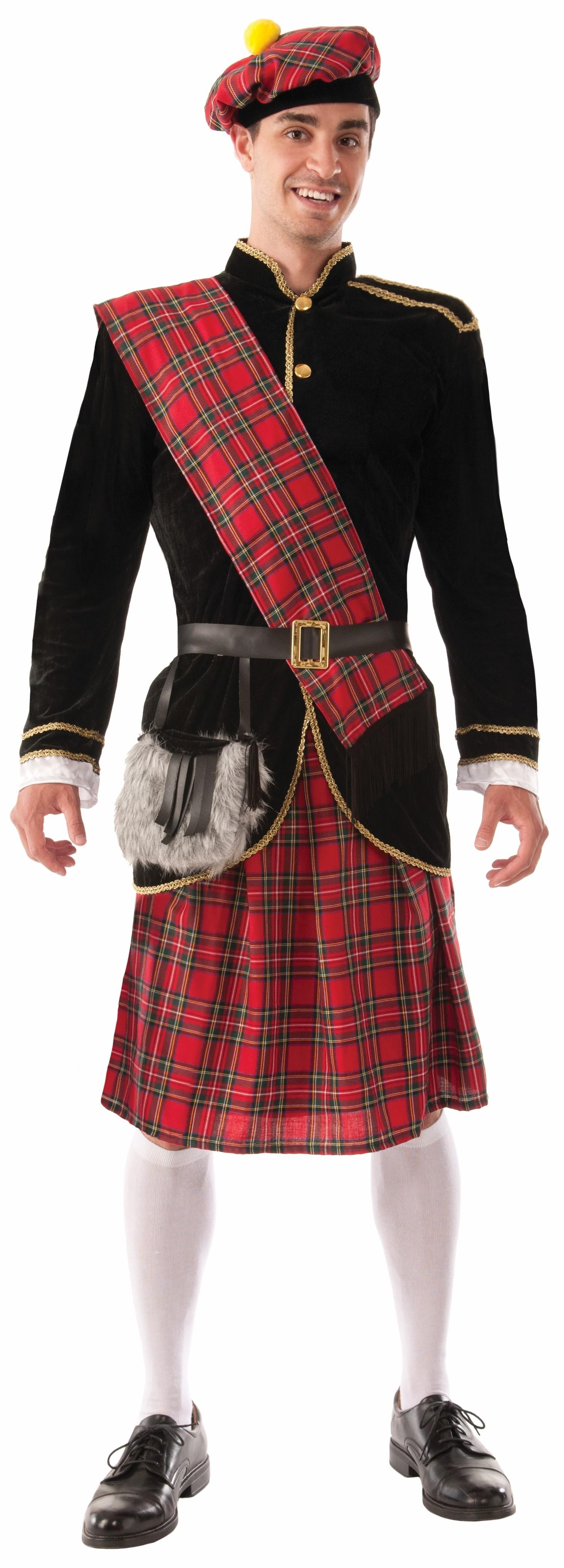 Костюм Шотландца в килте (52) театральный усы и бороду
