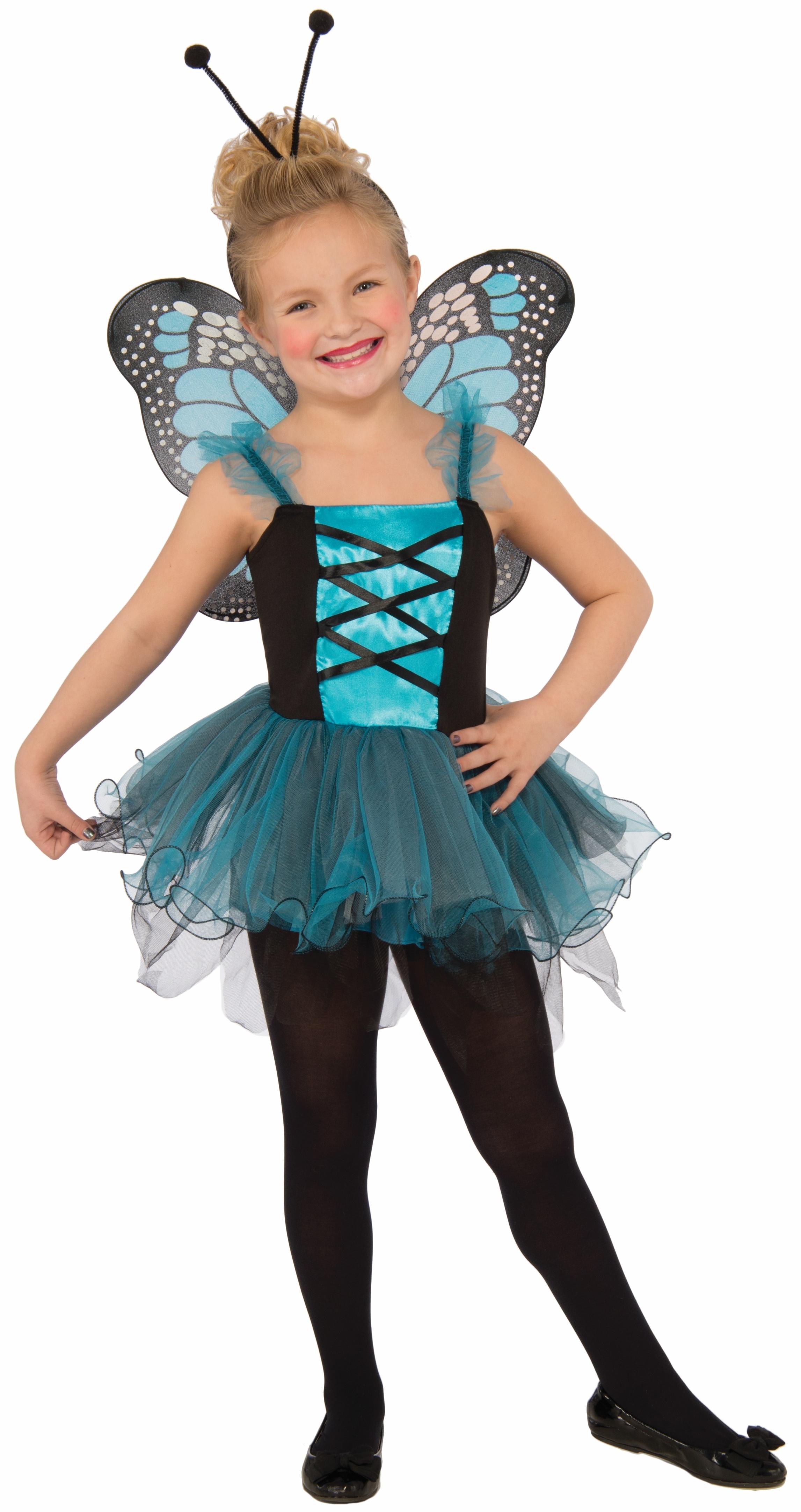 Детский костюм голубой бабочки (38-40)