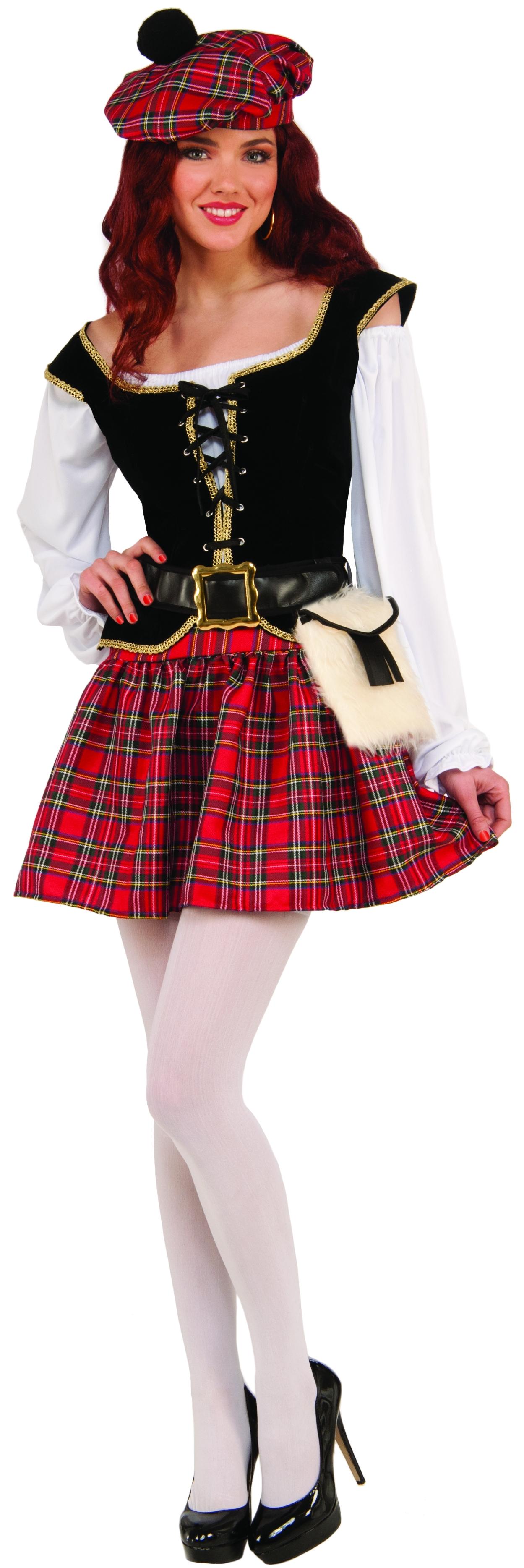 Костюм Шотландки (46-48) костюм радужной клоунессы 46 48