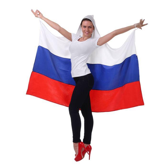 Накидка Россия с капюшоном (UNI) -  Спорт