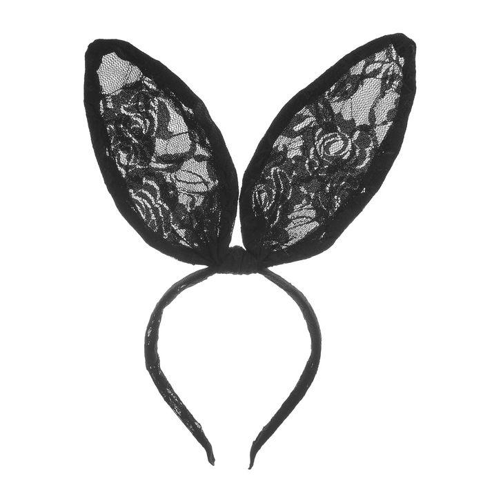 Кружевные заячьи уши (UNI) -  Аксессуары на карнавал