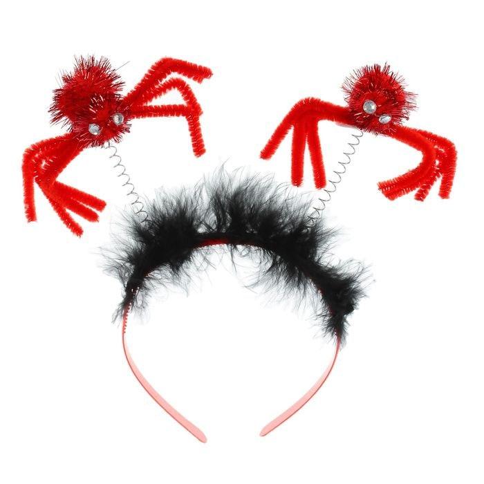 Ободок с пауками (UNI) -  Аксессуары на Хэллоуин