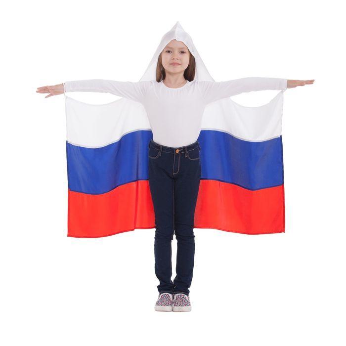Детская накидка Россия с капюшоном (UNI) -  Спорт