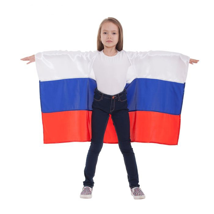 Детская накидка Россия с рукавами (UNI) -  Спорт