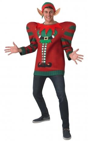 Рождественский свитер Эльфа (50) - Новогодние костюмы, р.50