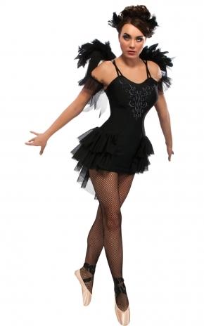 Костюм Черной Балерины с крыльями (42)