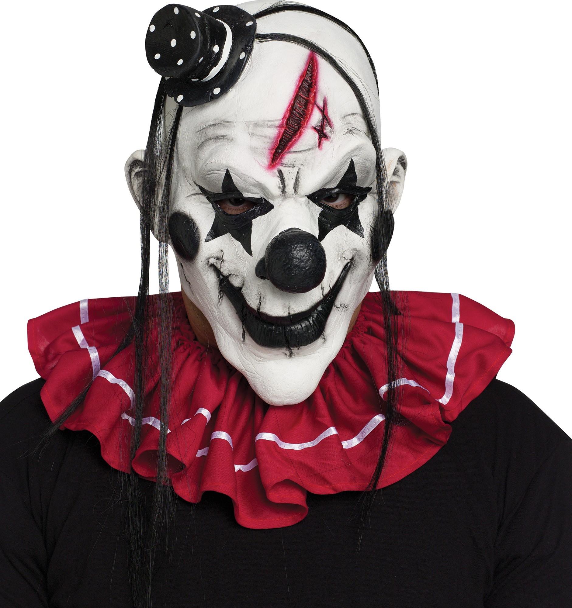 Черно белая маска клоуна (UNI) костюм озорного клоуна 42 48