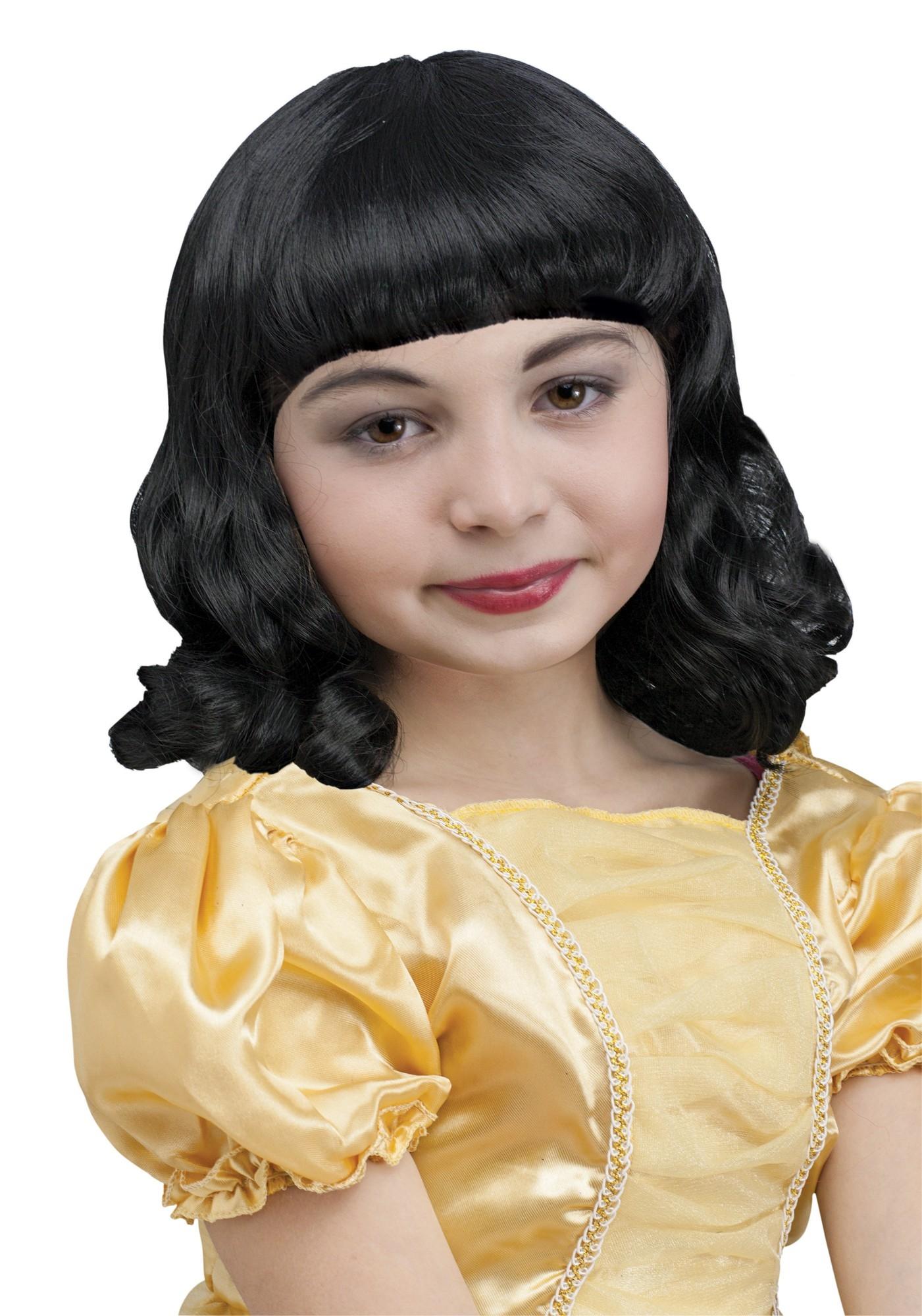 Черный детский парик (UNI) -  Парики и волосы