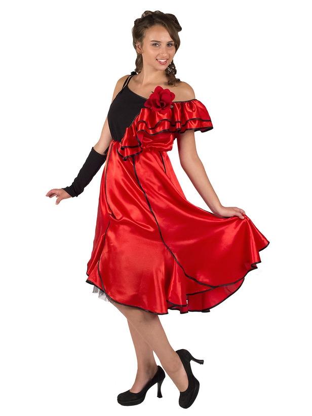 Подростковый костюм Испанской танцовщицы (46) костюм для танцев в спб