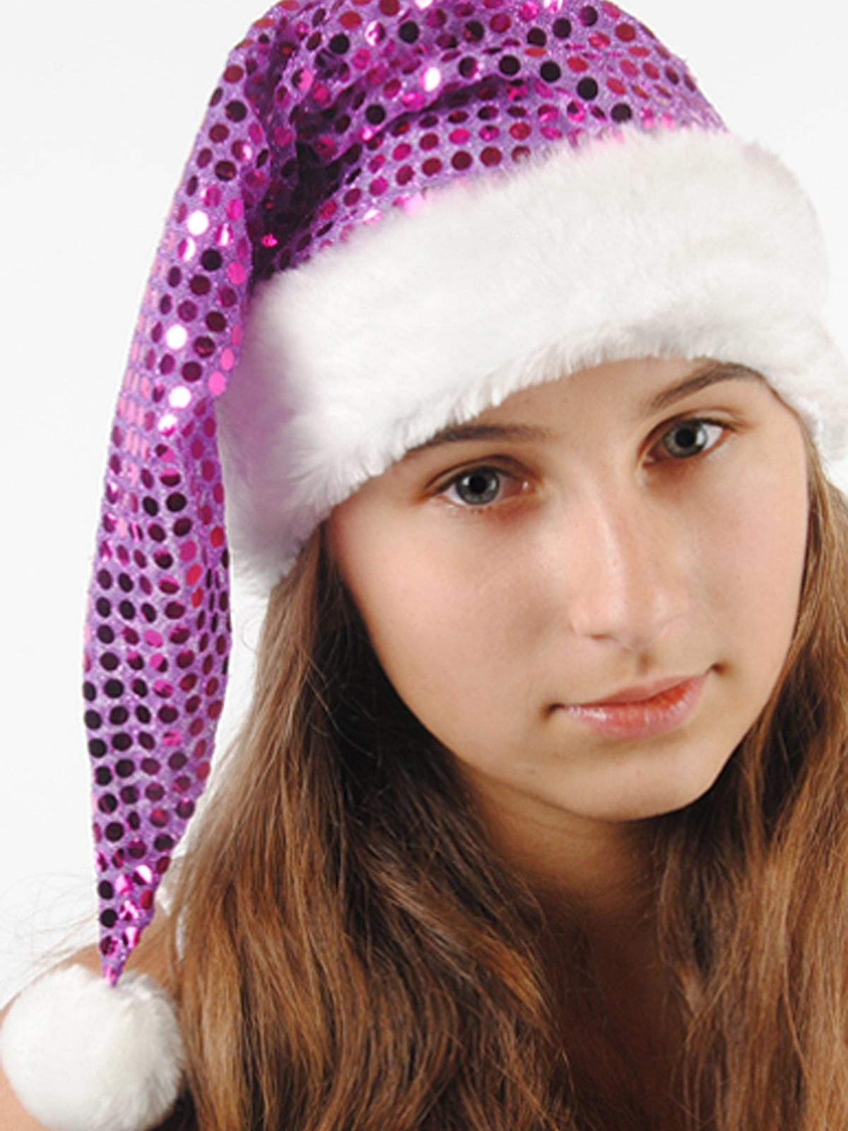 Новогодний фиолетовый колпак (UNI) -  Новогодние костюмы
