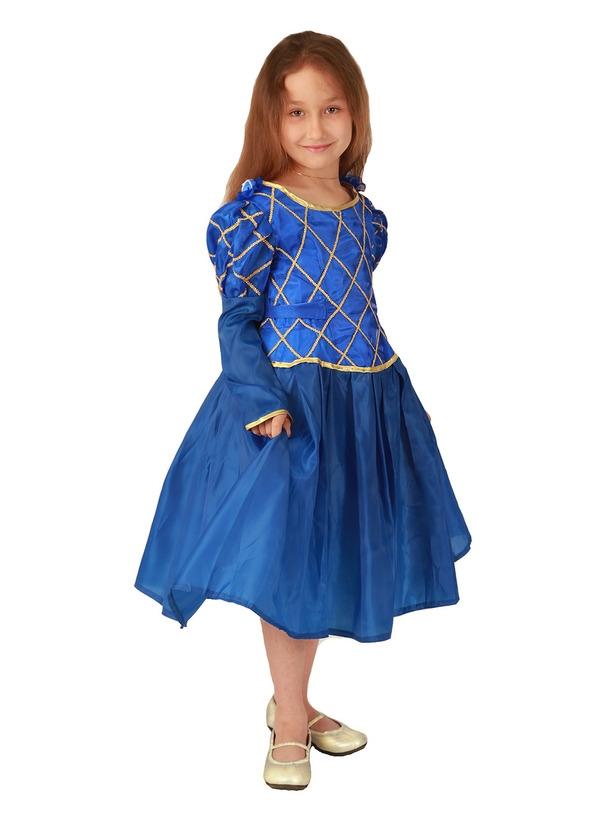 Детский костюм синей принцессы (30) детский костюм озорного клоуна 34