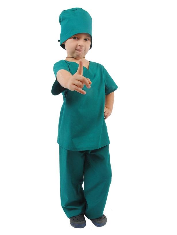 Детский костюм Врача Хирурга (32) детский костюм озорного клоуна 34