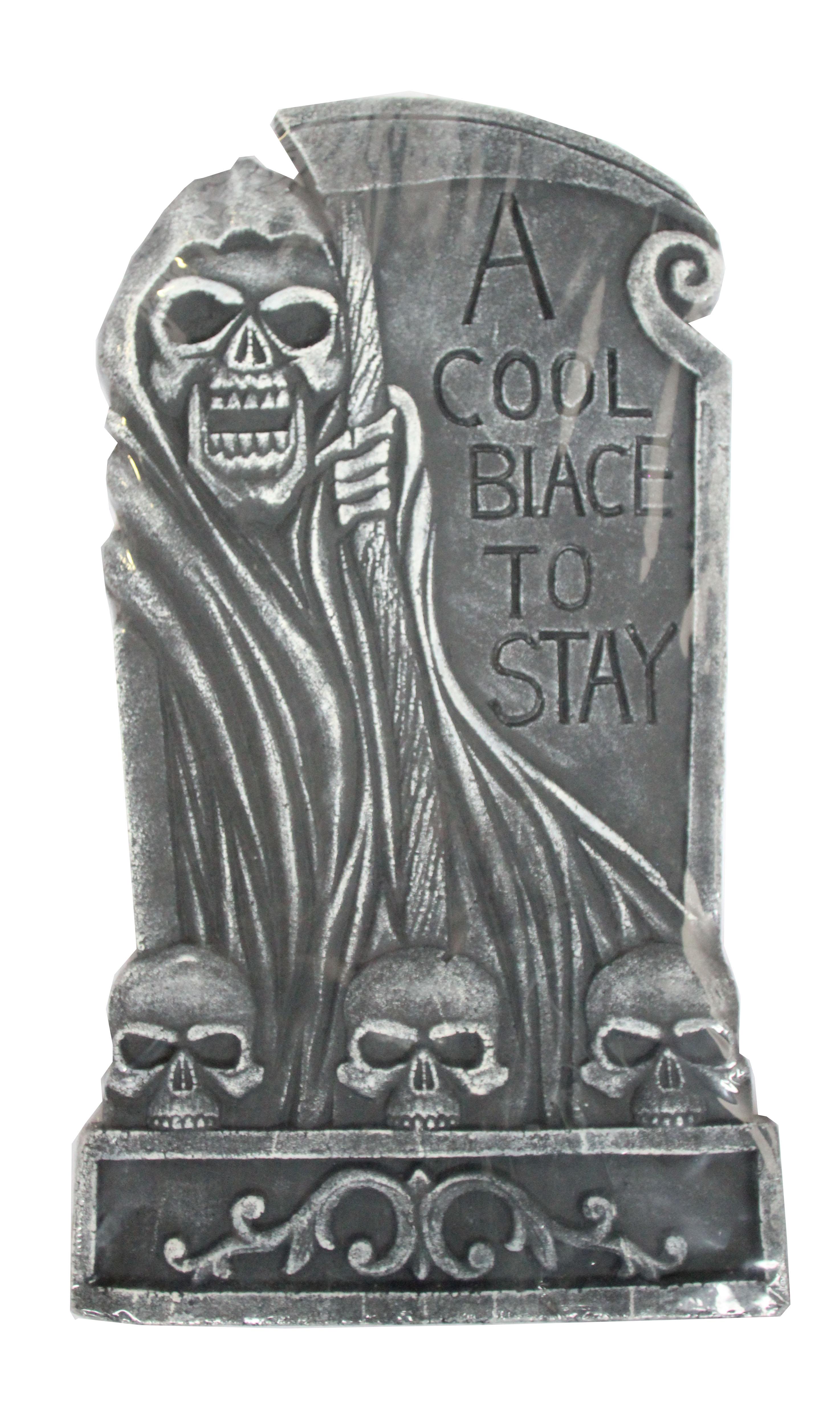 Надгробие с жуткими черепами (UNI) надгробие с демоном uni