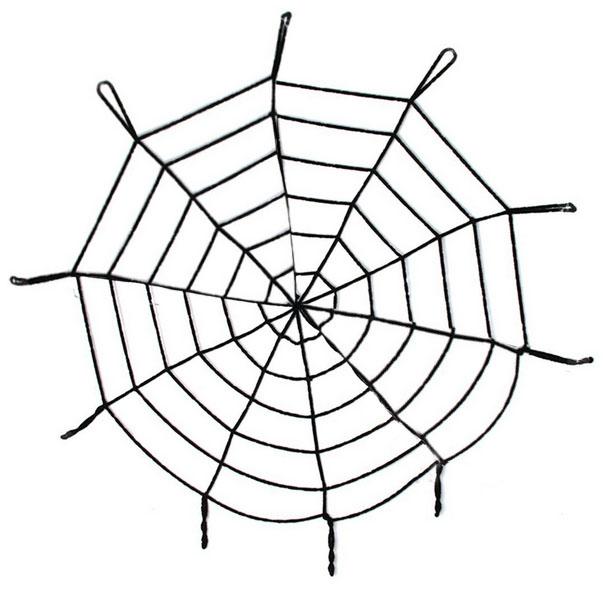 Черная паутина 1 метр 50 см (UNI) черная паутина с пауками 120 грамм