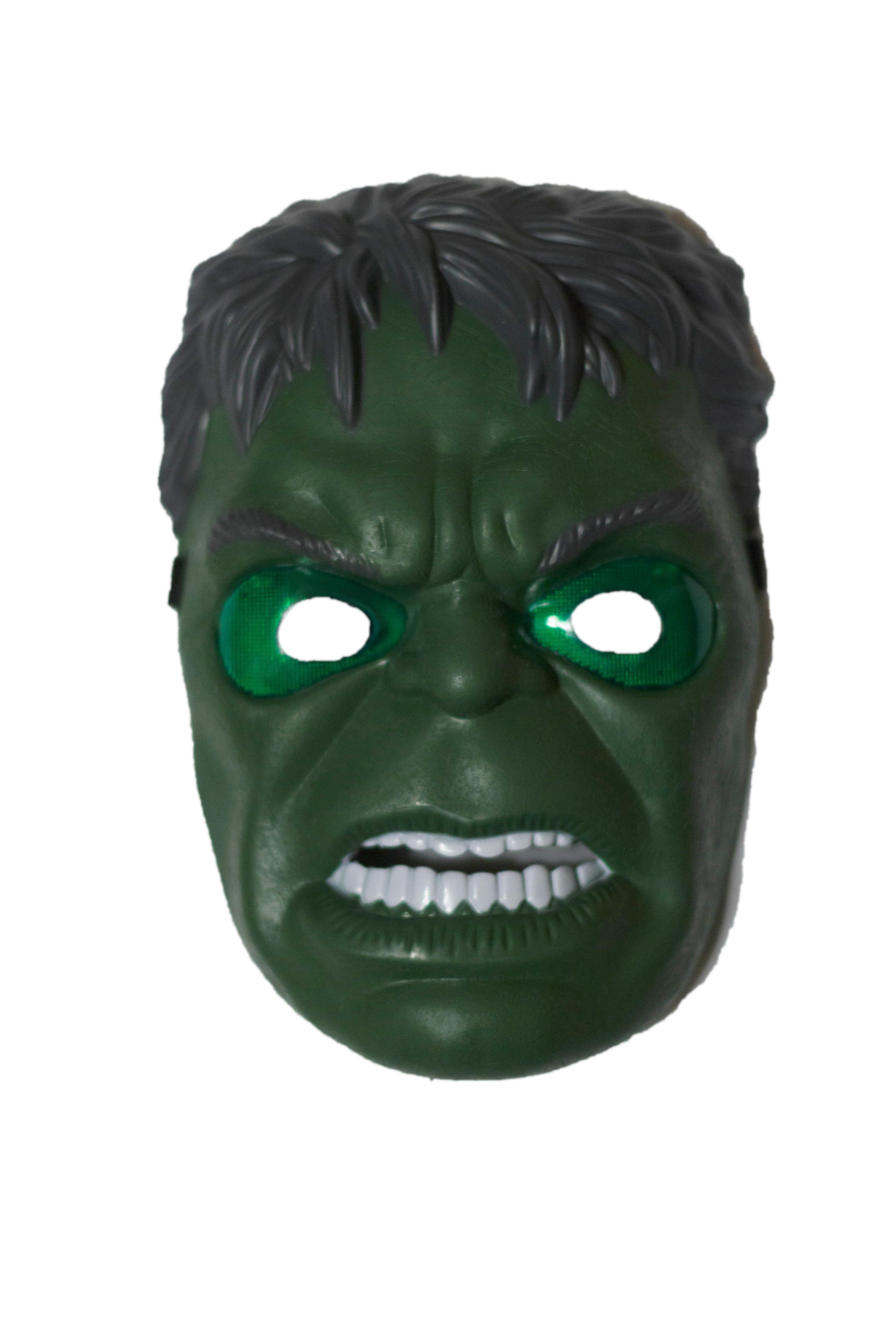 Светящаяся маска Халка (UNI) плюшевая маска зайки uni