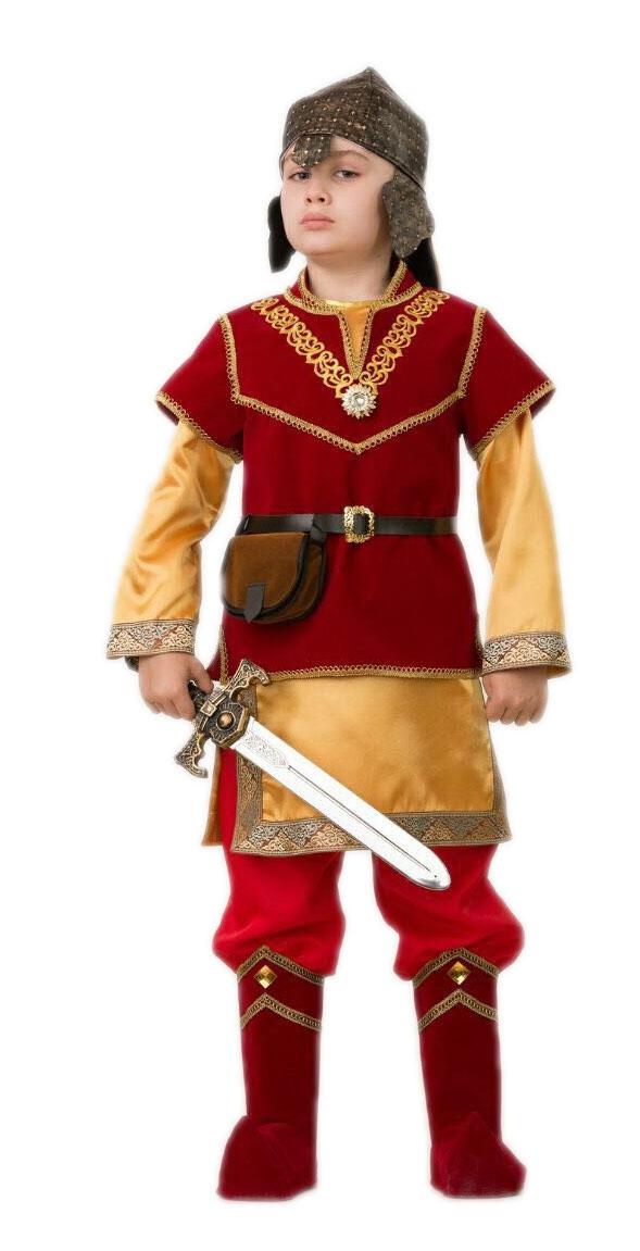 Детский костюм Богатыря Добрыни Никитича (40) детский костюм озорного клоуна 34