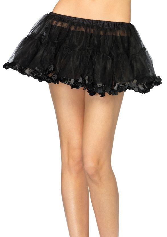 Черный волнистый подъюбник (UNI) подъюбник accessories трехслойный черный 28см