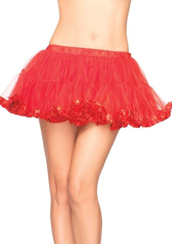 Красный волнистый подъюбник (UNI) подъюбник accessories трехслойный черный 28см