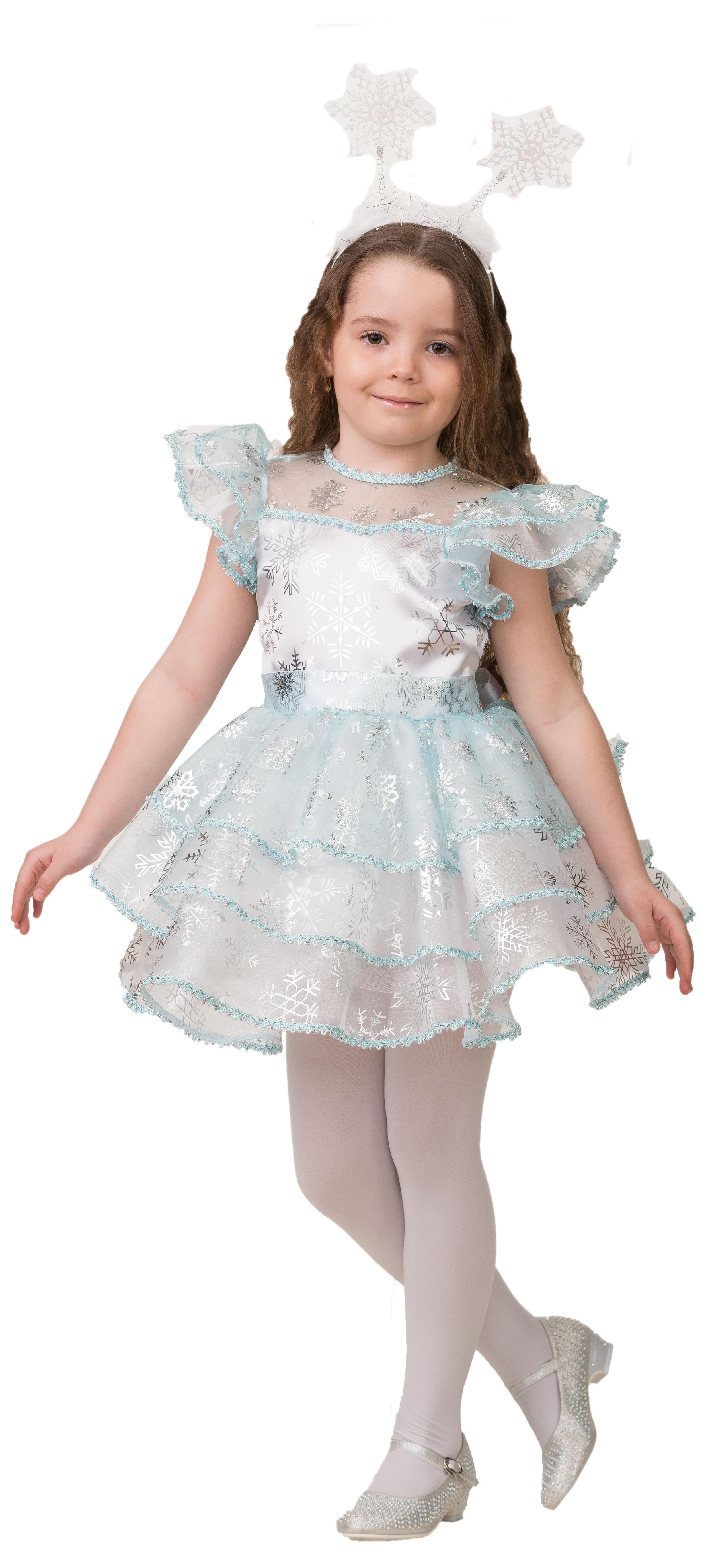 Детский костюм Снежинки Снежаны (26) детский костюм зимней снежинки 32