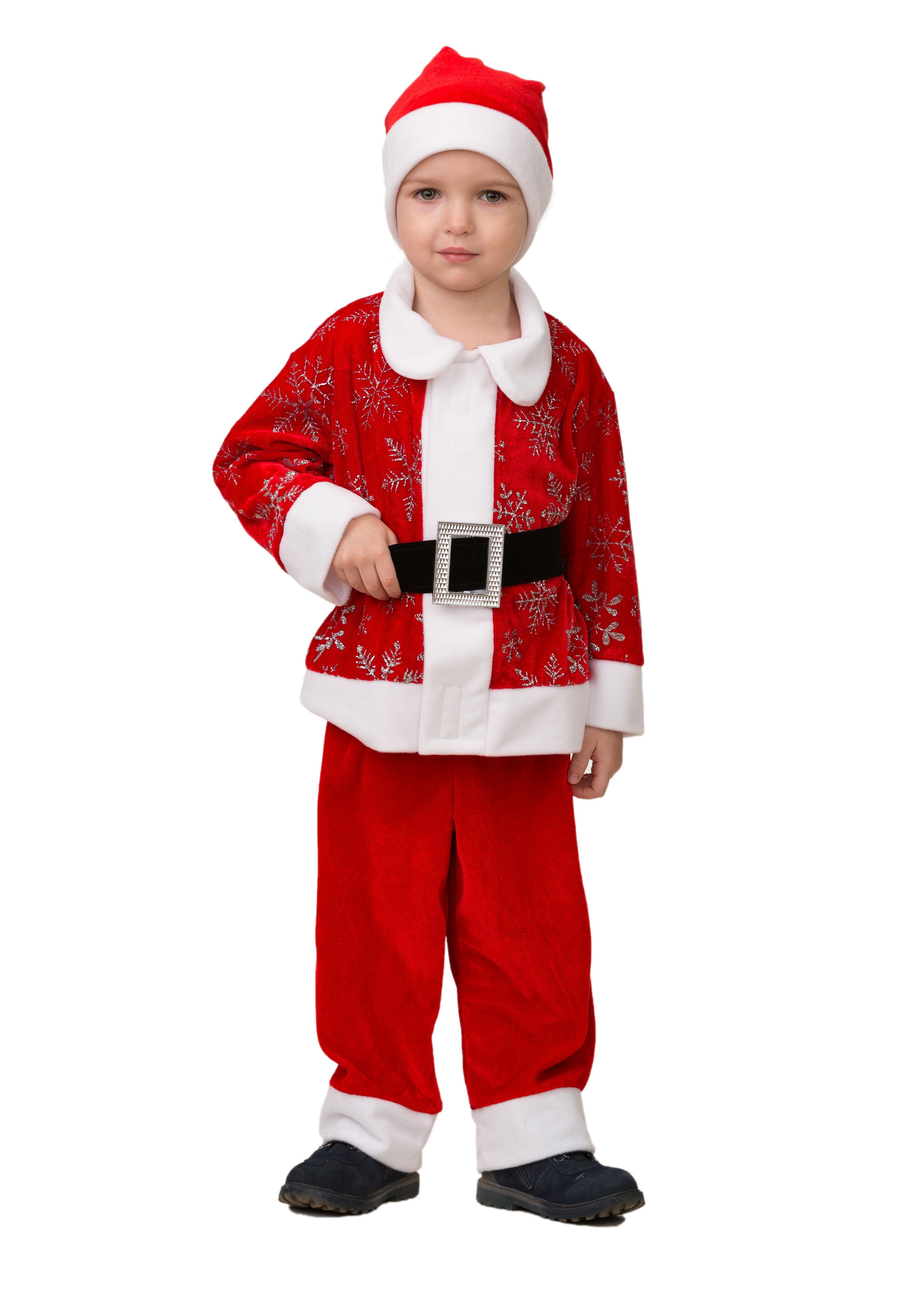 Детский костюм Красного Дедушки Мороза (24) детский костюм деда мороза голубой 38