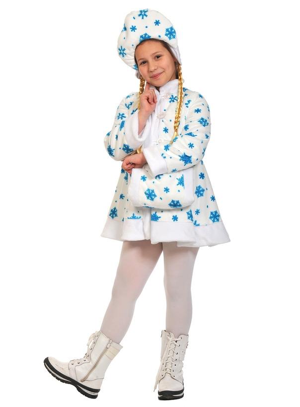 Детский костюм белой Снегурочки (32-34) детский костюм джульетты 32 34