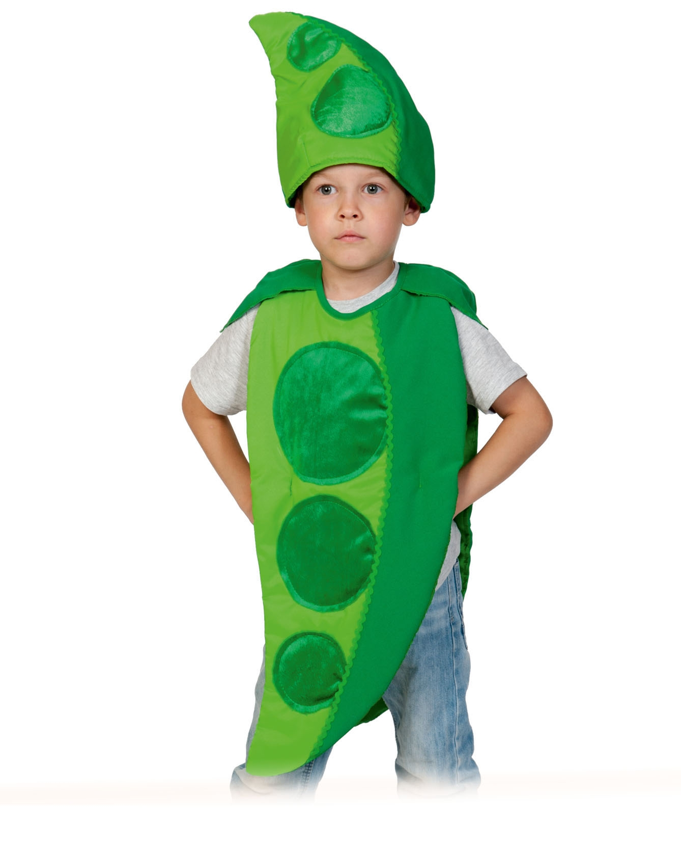 Детский костюм Гороха (28-32) детский костюм озорного клоуна 34