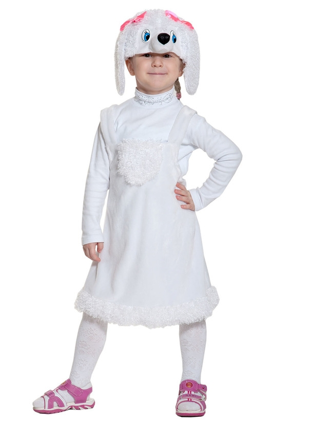 Детский костюм Белого Пуделя (26) - Животные и зверушки, р.26