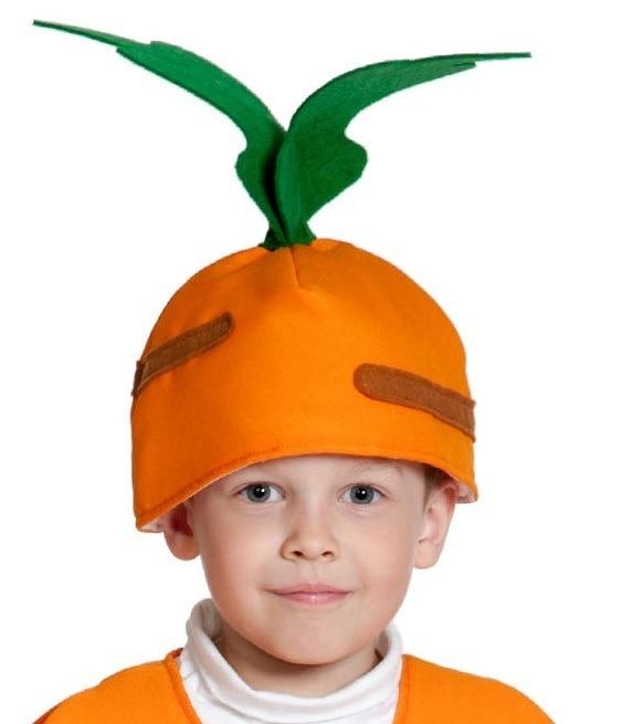 Детская шапка Морковка (UNI) -  Шляпы карнавальные