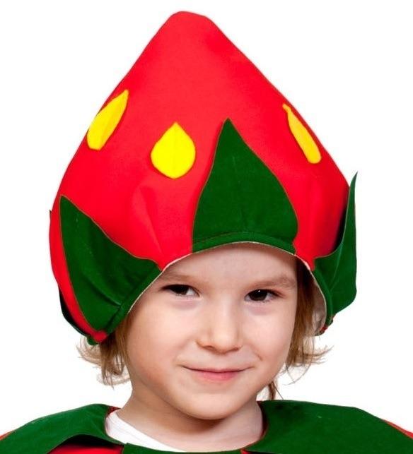 Детская шапка Клубника (UNI) -  Шляпы карнавальные