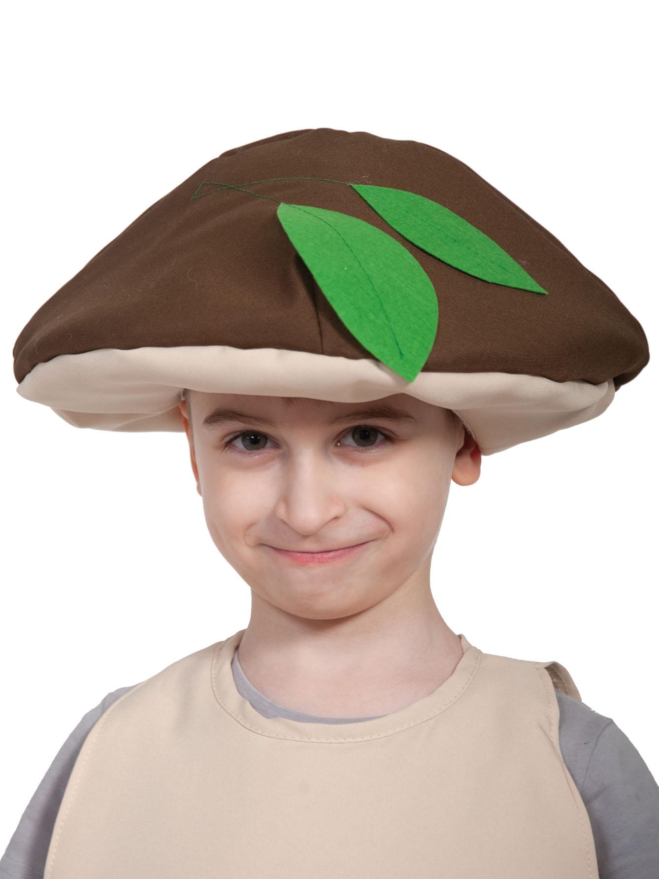 Детская шапка Гриб Боровик (UNI) -  Шляпы карнавальные